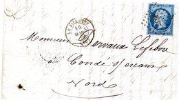 Seine - LAC Affr N°14A Obl PC 3637 C 15 La Villette (L De Constructeur De Wagons De Chemin De Fer) - Marcophilie (Lettres)