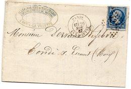 Seine - LAC Affr N°22 Obl GC 4277 C 17 Paris La Villette (L De Constructeur De Wagons De Chemin De Fer) - Marcophilie (Lettres)