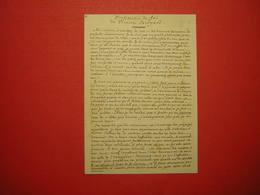 CPM BIBLIOTHEQUE DE GENEVE  JEAN JACQUES ROUSSEAU  MANUSCRIT AUTOGRAPHE DE LA PROFESSION DE FOI DU VICAIRE SAVOYARD - Bibliotheken