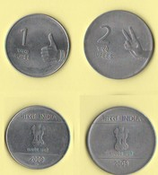 India 1 + 2 Rupees 2009 Rupie Inde - India