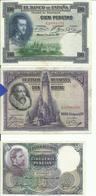 3 Billets Espagne 1 De 50 Pesetas 1931 Et 2 De 100 Pesetas  1925 Et 1928 Tres Bon Etat - [ 2] 1931-1936 : Repubblica