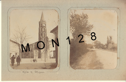 BLAGNAC (31) 2 PHOTOS TRES ANCIENNES COLLEES SUR CARTON DUR - DIM 8,5x10,5 Cms - Photos