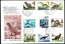 BUSTA PRIMO GIORNO ANIMALI PREISTORICI - 30.6.1965 - San Marino
