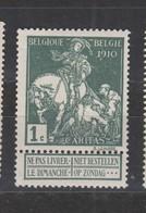 COB 88 ** Neuf Sans Charnière Cote 7€ - 1910-1911 Caritas
