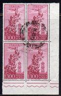 Q56 - REPUBBLICA 1955 , Posta Aerea  Campidoglio Stelle 300 Lire N. 149 Quartina Usata. - 6. 1946-.. Republic