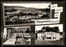 ÄLTERE POSTKARTE GRÜSSE AUS MENGERSCHIED GASTHAUS ZUR POST THEKE TOTAL HUNSRÜCK Simmern Postcard Cpa AK Ansichtskarte - Simmern