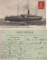 1916? Le (Paquebot) Doukkala, De La Compagnie Paquet, Navire-hôpital Et Croiseur Auxiliaire - Marcophilie (Lettres)