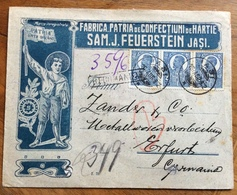 SCAUTISMO - CERCETAȘII ROMÂNIEI - RACCOMANDATA DA  IASI I PER LA GERMANIA IN DATA  16/8/1922 - Otros