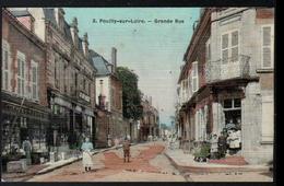 58, Pouilly Sur Loire, Carte Toilee, Grande Rue - Pouilly Sur Loire