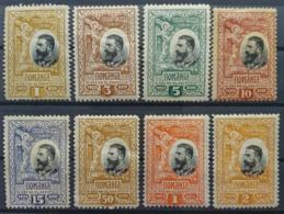 ROMANIA 1906 - MLH - Sc# 186, 187, 188, 189, 190, 193, 194, 195 - Ungebraucht