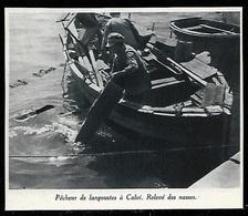1948  --  PECHEUR DE LANGOUSTES A CALVI  RELEVE DES NASSES  3S056 - Vieux Papiers
