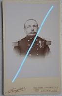 Photo CDV Officier Armée Belge Circa 1875 Belgische Leger Unoforme Médailles Décorations Armée Belge ABL - Photos