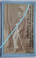 Photo CDV Officier Corps Des Tireurs Luxembourgeois Anniversaire Wilhelm III Amsterdam 1874 Sabre Sword LUXEMBOURG - Foto's