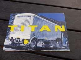 V-P 42 , Documentation Remoque TITAN,  Citerne, Semi-Remorque, Plateaux - Publicidad