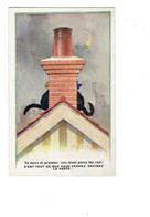 Cpa Illustration - Humour - Donald Mac Gill - TOIT Cheminée Chats Chat Noir Lune - Mc Gill, Donald