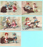 Lot De 5 Chromos Chocolat Suchard. Enfants. Série N. 10 - Suchard