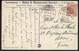 Italy 1928 - Postcard Courmayeur - 1900-44 Vittorio Emanuele III