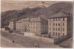 Aosta Caserma Testafochi Distributore Caltex Bollo Staccato - Non Classés