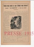 3 Scans Voyance Cartomancienne Tireuse Cartes Soldat Bonnerue De Saint-Laurent-les-Mâcon Raoux Gaston Marlin  226CH25 - Vieux Papiers