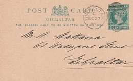 Gibraltar / 1894 / Postkarte Mi. P 15 O (3013) - Gibraltar