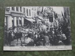 OOSTENDE - GRAND CORTEGE DEGUISE 1907 - Char Des Reines De La Mi-Carême - Oostende