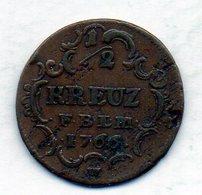 GERMAN STATES - BADEN, 1/2 Kreuzer, Copper, 1766, KM #113 - Monedas Pequeñas & Otras Subdivisiones