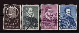 Nederland - Niederlande - Pays Bas NVPH 252 T/m 255 Used (1933) - Used Stamps