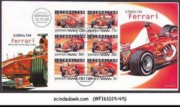 GIBRALTAR - 2004 FERRARI RACE CARS / GRAND PRIX / AUTO RACING M/S FDC - Gibraltar