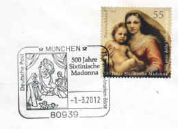 929  La Madone Sixtin De Raphaël: Oblit. Temp. D'Allemagne, 2012 - Madonna Sistina, Raffaello - Madonnen