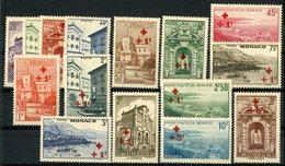 Monaco N° 200 à 214 Cote 185 € Série Complète De 15 Valeurs Surchargées De La Croix Rouge. * Neufs Avec Charnière - Monaco