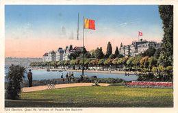 Genève Quai Wilson Et Palais Des Nations - GE Ginevra