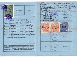 1929 KINGDOM OF SHS,SERBIA,PRIBOJ,PRIESTS GUN PERMIT,3 REVENUE STAMPS, ZETSKA BANOVINA - Historical Documents