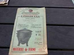 VP-57 , Document Manufacture De Tôlerie F.FILLOD , Saint-Amour, Jura, Juin 1956 - Francia