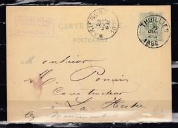 Postkaart Van Thuillies Naar La Hestre - Entiers Postaux