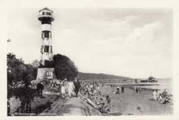 AK - WITTENBERGEN (Hamburg) - Flanierer Und Badende Am Elbstrand Mit Leuchtturm 1930 - Ohne Zuordnung