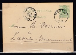 Postkaart Van Thuillies Naar La Hestre - Postwaardestukken