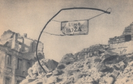 AK - WARSZAWA ZBURZONA (Zerstörtes Warschau) - Kriegsruinen In Der Ulica Hoza 1944 - Polen