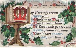 Carte Postale Ancienne De Vœux/Love Peace & Gladness/TUCK/Omaha/Nebraska/Montréal/1908       CVE163 - New Year