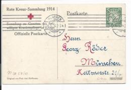 Bayern PP 38 C 7-03 - 5 Pf Hupp'schesWappen, Rotes Kreuz Krankentransport In München O.T. Verwendet - Stamped Stationery