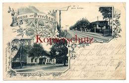Derschau 1898, Keil's Gasthaus U. Station (Bahnhof), Bei Oppeln - Schlesien