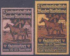 F-EX9825 ALEMANIA GERMANY 1914  HANNOVER CINDERELLA HORSE CABALLOS MH. - Alemania