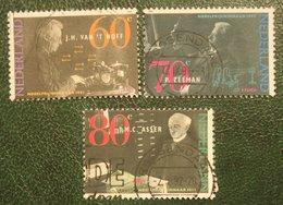 Nobel Prijswinnaars NVPH 1478-1480 (Mi 1418-1420); 1991 Gestempeld / USED NEDERLAND / NIEDERLANDE - 1980-... (Beatrix)