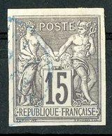 N°33 Cote 94 € COLONIES GENERALES 15ct Gris Type Sage. Oblitération Bleue. TB - Sage