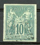 N°32 Cote 28 € COLONIES GENERALES 10ct Vert Type Sage. Oblitéré. TB - Sage