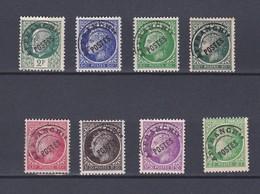 France Préoblitérés 4 Timbres Neuf ** Et  4 Sans Gomme - 1893-1947