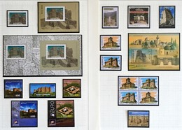 2017 Europa-CEPT Castles Complete Year Set With Blocks And Sheets From Booklets - 2017
