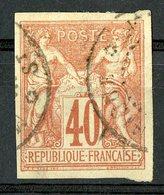 N°27 COLONIES GENERALES 40ct Rouge Orange Type Sage. Oblitéré. TB - Sage