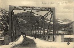 04  DIGNE  Le Pont Des Arches  Sous La Neige - Digne