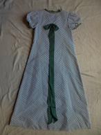 Robe Longue En Velours Couleur Bleu Pour Petite Fille Demoiselle D'honneur 1968 - Mariage