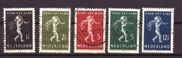 Nederland - Niederlande - Pays Bas NVPH 327 T/m 331 Used (1939) - Used Stamps